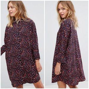 Monki Confetti Print Shirt Dress